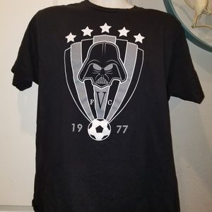 Other - Mens Starwars Darth Vader Soccer Black tshirt  szL
